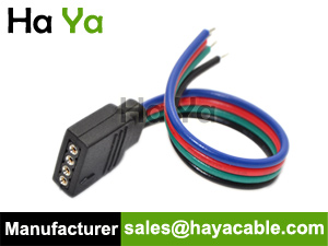 4 pin female cable for rgb led strip-flat cable