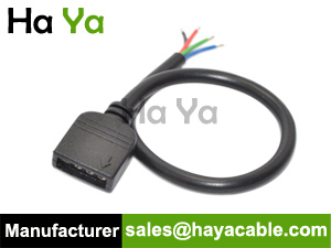 4 pin female cable for rgb led strip