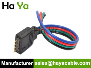 4 pin male cable for rgb led strip flat cable