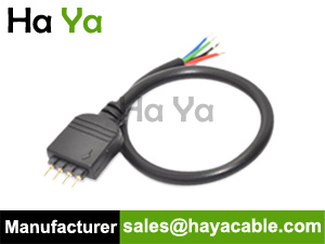 4 pin male cable for rgb led strip