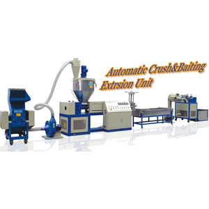 automatic crush and recycling machine line