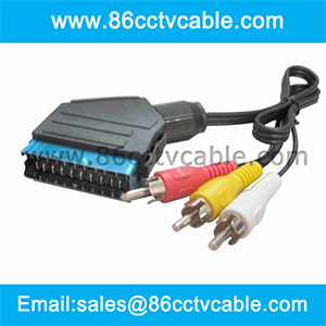 SCART to 3 RCA cable