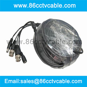 heavy duty pre-made cctv power video cable