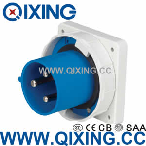 industrial panel mounted plug QX3665