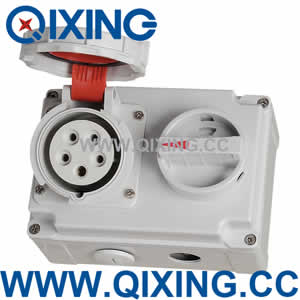 industrial socket with switch QX7280