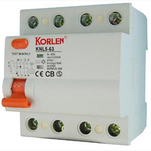 Residual Current Circuit Breaker (KNL5-63)