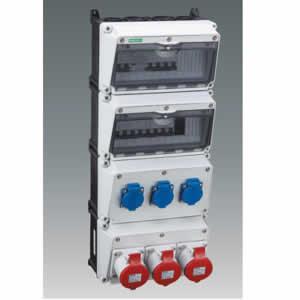 Multistep combination socket box QCSM-1301