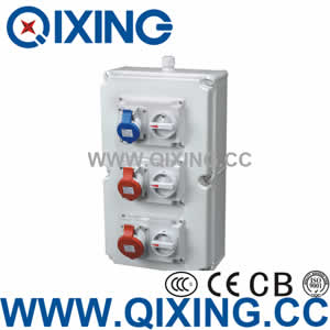 Plastic power combination socket box QCSM-0901