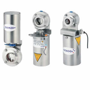 pneumatic double butterfly valves